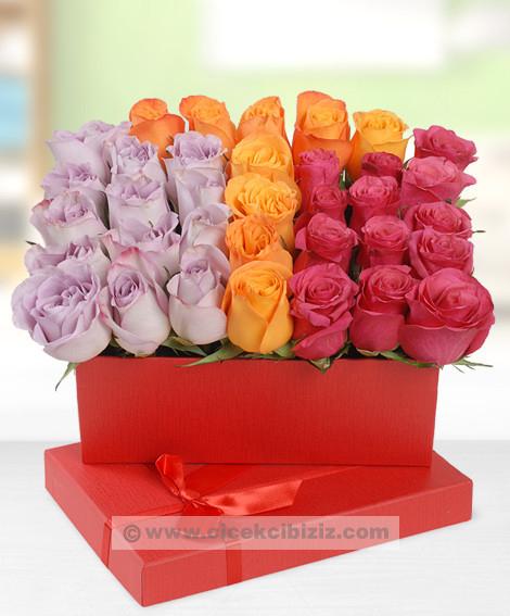 Renkli Güllerden Harf