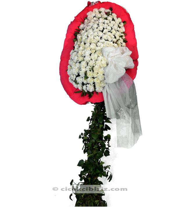 Ayaklı Sepet  Beyaz