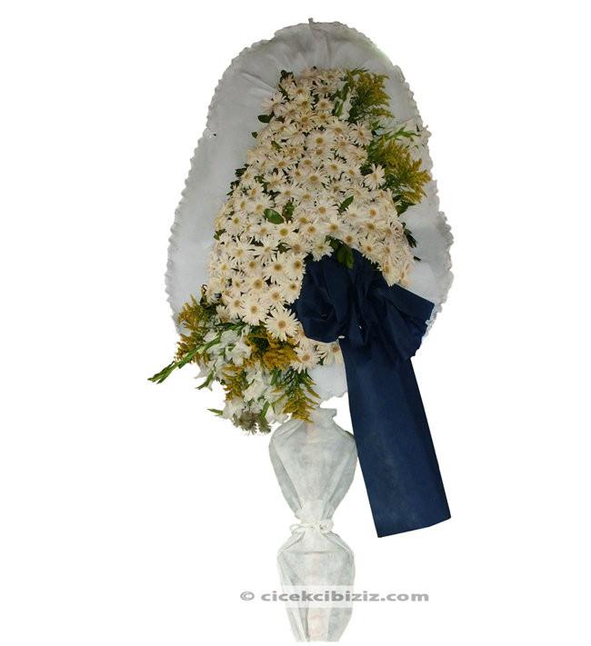 Ayaklı Sepet Beyaz Gerberalı
