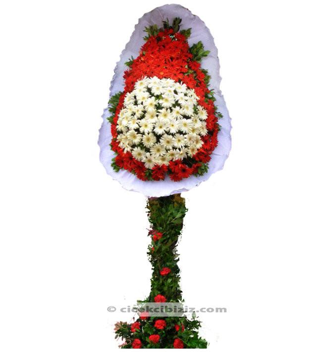 Kırmızı Beyaz Ayaklı Sepet