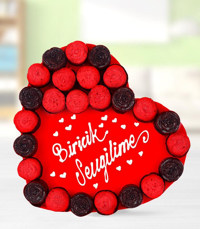 Biricik Sevgilime Kek Gül