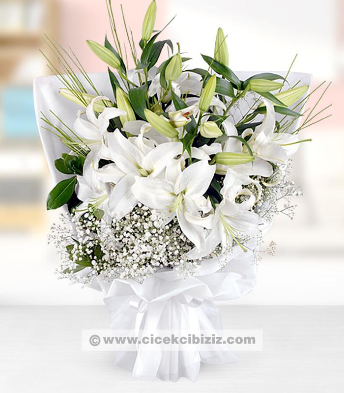 Kucak Dolusu Lilyum Çiçeği Buketi
