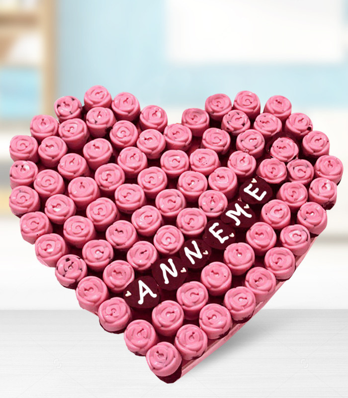 Pink Love Cake Kek Kargolu