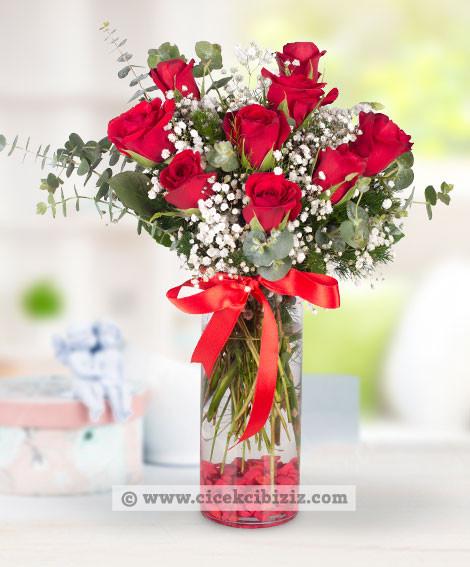 Romantik Aşık 9 Kırmızı Gül